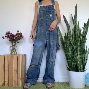 Vintage Reworked Overalls with Patches